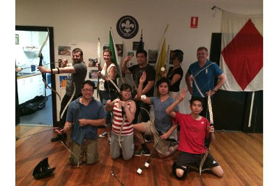 Recent Archery Tag Team Building Event